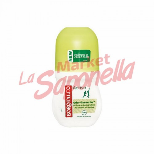Antiperspirant activ  roll on cu cedru si lamaie Borotalco – 50 ml
